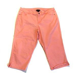 Lane Bryant Coral Capri Jeans